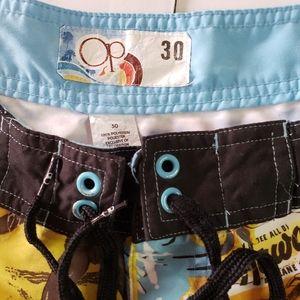 Vintage Op Ocean Pacific Swim Trunks Size 30